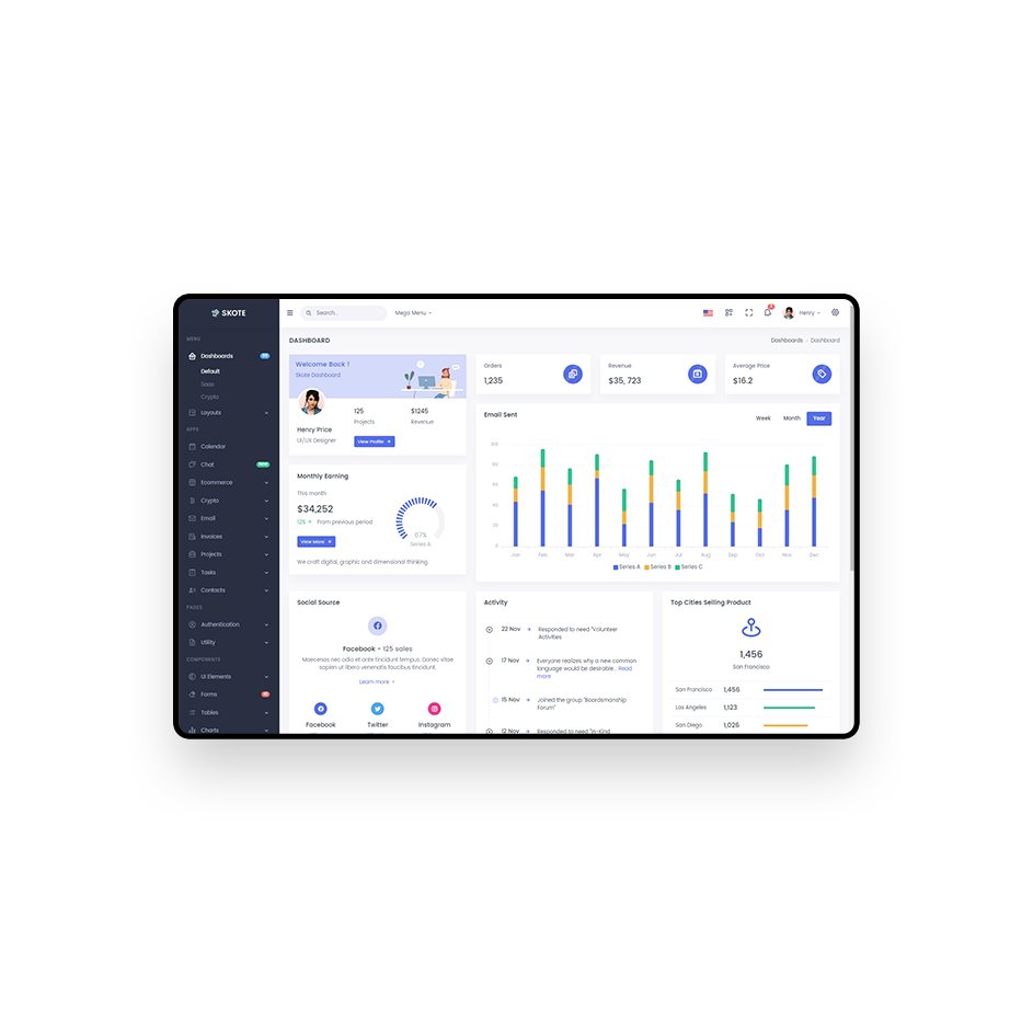 Skote Html Laravel Admin Dashboard Template Sketch Bootstrap Template Get Bootstrap Theme